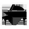 Piano droit queue